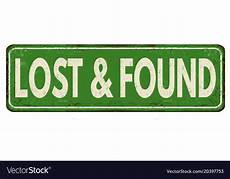 Lost And Found Sign Lost And Found Vintage Metal Sign Royalty Free Vector