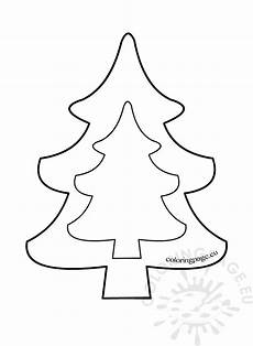 tree template to print coloring page