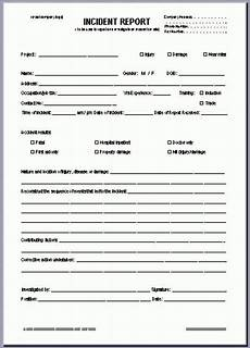 Eiu Incident Report Incident Report Template Incident Report Incident