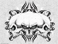 3 Skull Designs Three Headed Skull By Oblivion Design On Deviantart