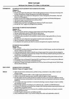 It Management Resume It Service Management Resume Modis It Service