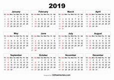 Week Calendar 2019 Calendar With Week Numbers