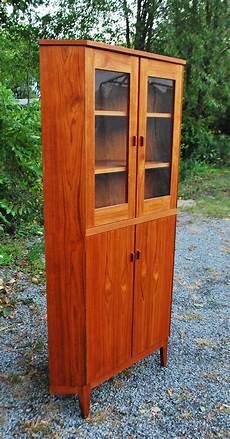 tribute 20th decor vintage teak corner cabinet