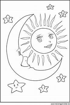 Malvorlagen Mond Und Sterne Malvorlagen Sonne Mond Und Sterne Printables
