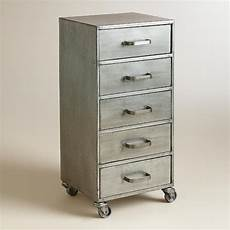 metal five drawer jase rolling file cabinet