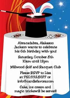 Magic Themed Birthday Invitations Magic Birthday Party Invitations Candles And Favors