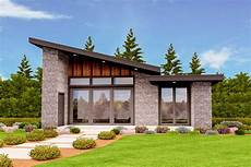exclusive tiny modern house plan with alternate exteriors
