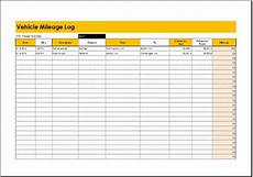 Vehicle Milage Log Mileage Log Templates For Ms Excel Word Document Templates