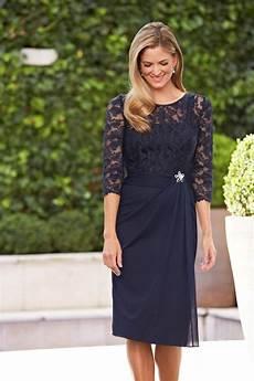 navy blue of the dresses knee length