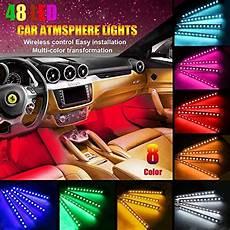 48 Interior Smart Lighting Kit Ficbox Upgraded Multi Color 48 Leds Car Interior Light