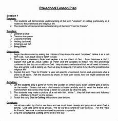 Outline Lesson Plan Example Free 10 Sample Preschool Lesson Plan Templates In Google