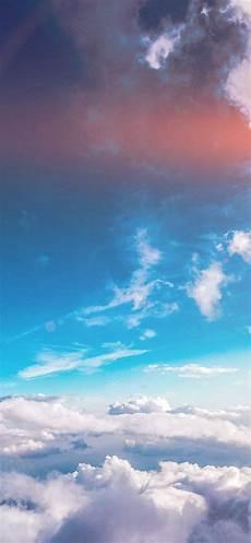 Iphone X Blue Cloud Wallpaper sky cloud fly blue summer flare iphone x wallpaper