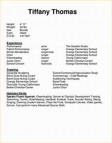 Child Actor Resume Format 5 Acting Resume Sample Free Free Samples Examples