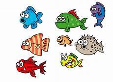bunte fische als cartoonfiguren fisch malen bunte fische