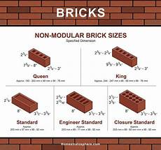Modular Brick Size Chart 101 Types Of Bricks Size And Dimension Charts For Every