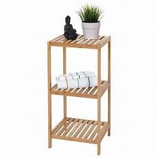 scaffale bagno scaffale arredo bagno akita legno bambu 3 ripiani