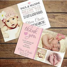 Baby Post Cards Details About Personalised Baby Girl Thank You Card Packs