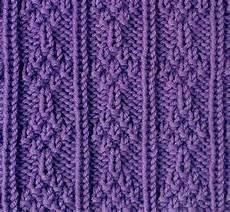 knit and purl stacked tress stitch knitting kingdom
