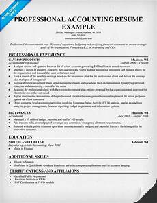 Resume Sample For Accountants Professional Accounting Resume Accountant Resume