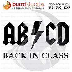 Abcd Logo Design Abcd Back In Class Acdc Digital File Svg Dxf Eps Png