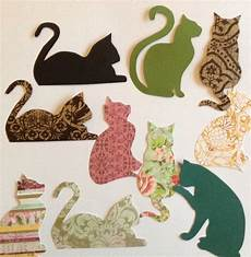 Cat Shapes To Cut Out 5 Cat Cut Outs Cat Shapes Cat Cardboard Black Pattern