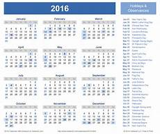 Vertex42 Calendar Download A Free Printable 2016 Holiday Calendar From
