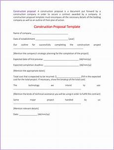 Construction Proposal Template Free Construction Proposal Template 4 Best Sample