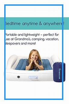 hiccapop toddler travel bed with safety bumpers