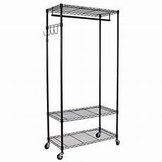 metal rack for clothes oceanstar 35 7 in x 75 5 in heavy duty 3 shelf steel