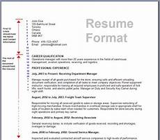 Resume Format Standard The Standard Resume Format For A Winning Applicant