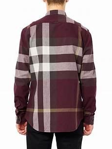 Purple Multi Check Flannel Smart Ring by Lyst Burberry Brit Adken Check Flannel Shirt In Purple