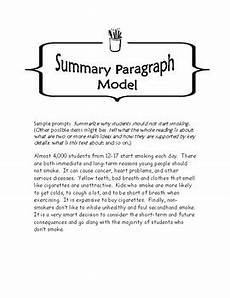 Summary Paragraphs Free Writing A Summary Paragraph All Subjects 6 9 Tpt