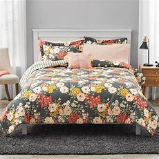 mainstays grey floral bed in a bag bedding walmart