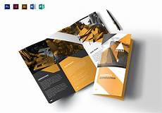 Tri Fold Flyer Tri Fold Business Brochure Design Template In Psd Word