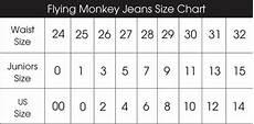 Women S Jean Size Conversion Chart Flying Monkey Jeans Size Chart Glik S