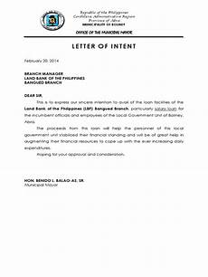 Letter Of Intent For Loan Application Letter Of Intent Availment Of Salary Loan Docx