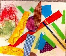 fabric collage project kindergarten crafts study