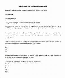 Cover Letter Email Template 11 Email Cover Letter Templates Free Sample Example