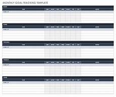 Goal Tracking Chart Free Goal Setting And Tracking Templates Smartsheet