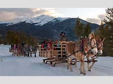 sleigh ride to dinner to a lantern lit tent restaurant
