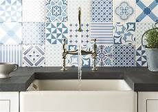 blue tile kitchen backsplash top 15 patchwork tile backsplash designs for kitchen