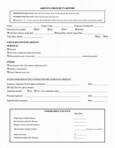 Absenteeism Report Template 9 Absence Report Templates Pdf Word Free Amp Premium