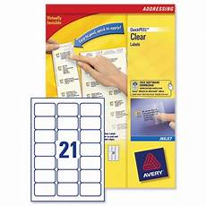 Avery 2 Labels Per Sheet Avery 21 Per Sheet Clear Labels Pack Of 525 Buy Online