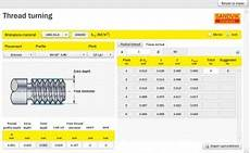 Threading Insert Chart Thread Machining Calculator From Sandvik Coromant Helman Cnc