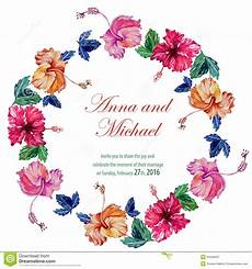 Watercolor Wedding Cards Vector Wedding Cards With Watercolor Stock Vector Image