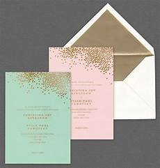 skabeloner til bryllupsinvitationer vera wang mint and blush wedding invitations with gold