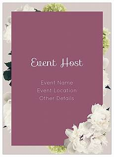 Download Invitation Card Template Easy To Use White Flowers Invitation Card Design Templates
