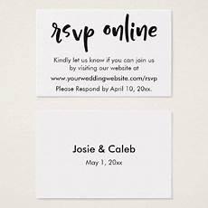 Online Rsvp Cards Wedding Rsvp Online Casual Insert Black White 11