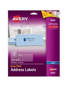 Address Labels Avery Avery Easy Peel Clear Address Labels