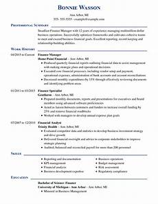 Cv For Finance 8 Amazing Finance Resume Examples Livecareer